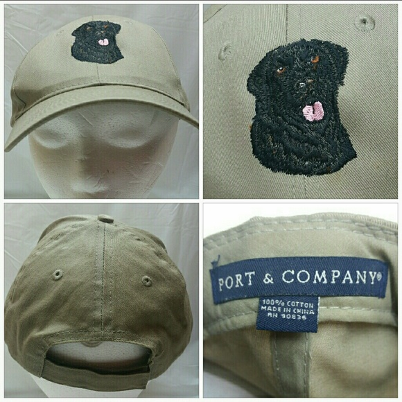 0fae3fdca Port & Co. Black Lab Retriever Baseball Cap Hat